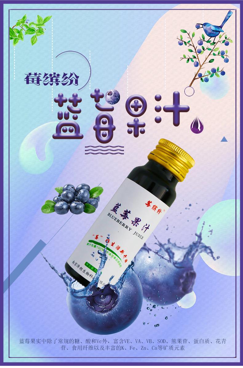 蓝莓胶原蛋白果汁饮料代加工